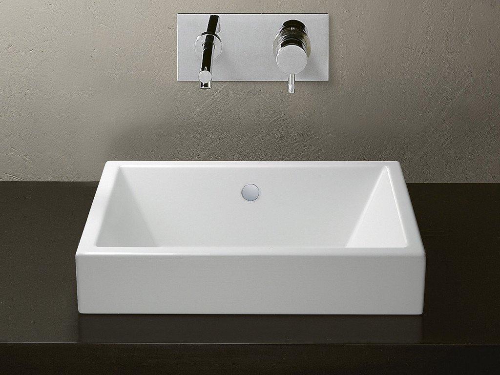 lavabo da appoggio rettangolare