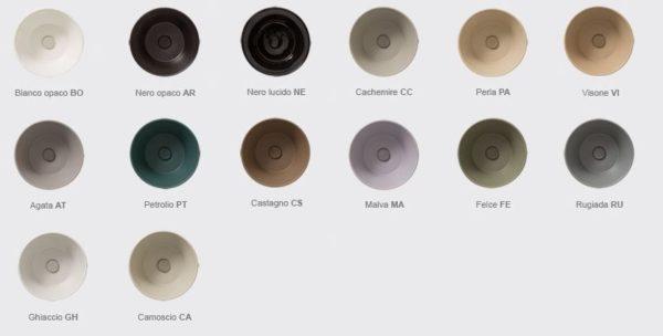 ceramica globo bagno colore pastello