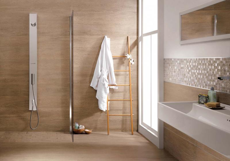 spesso Rivestimenti bagno: effetto legno o piastrelle? GU88