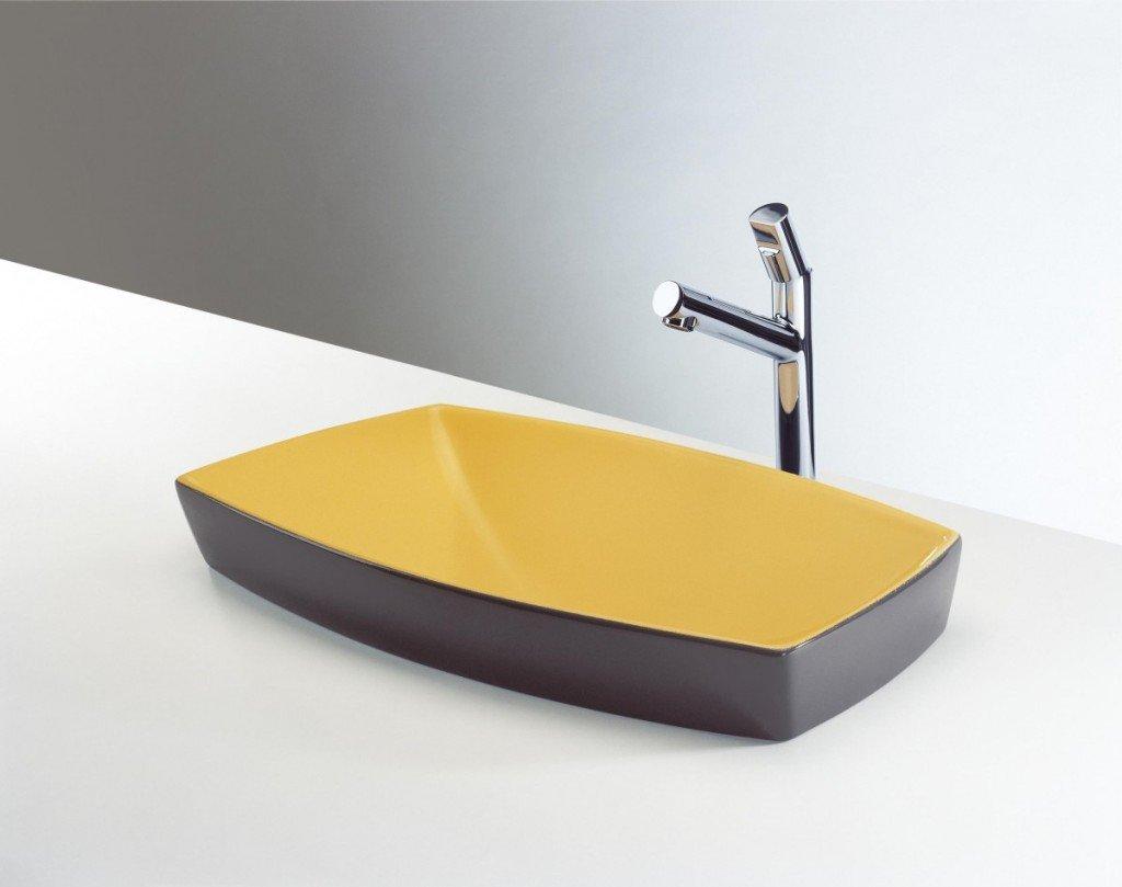 bagno giallo lavabo dada valliarredobagno