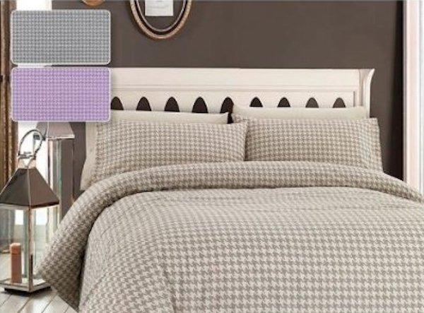 Biancheria da letto per autunno lenzuola pied de poule