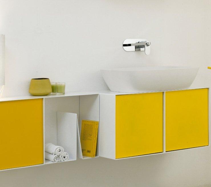bagno giallo notch cabinet
