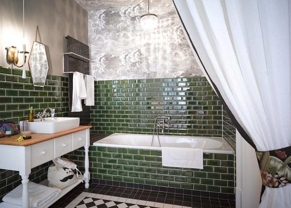 Piastrelle vintage per il bagno
