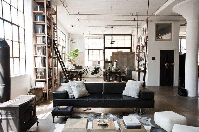 Arredare il soggiorno in stile industrial