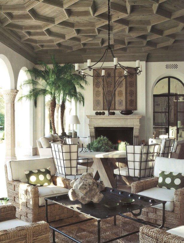 Soffitti decorati 10 idee d 39 effetto dal legno ai led per for Garden loggia designs