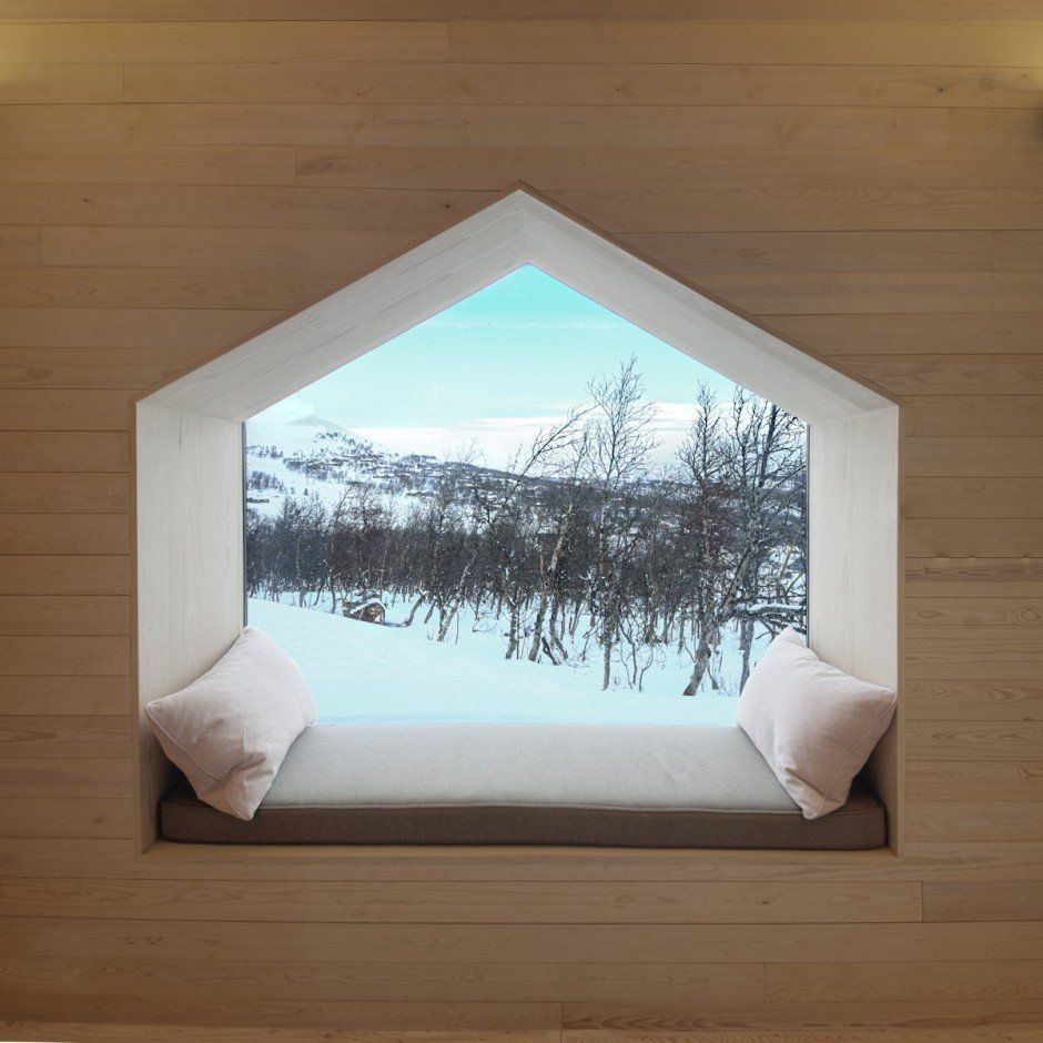split view mountain lodge - Architettura d'avanguardia