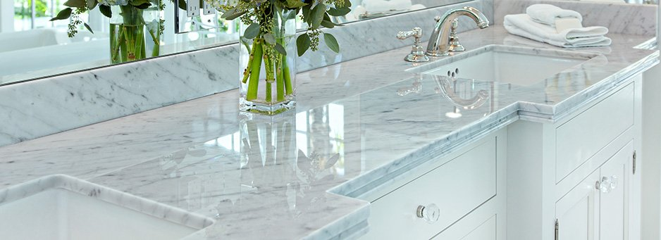 top bagni in marmo