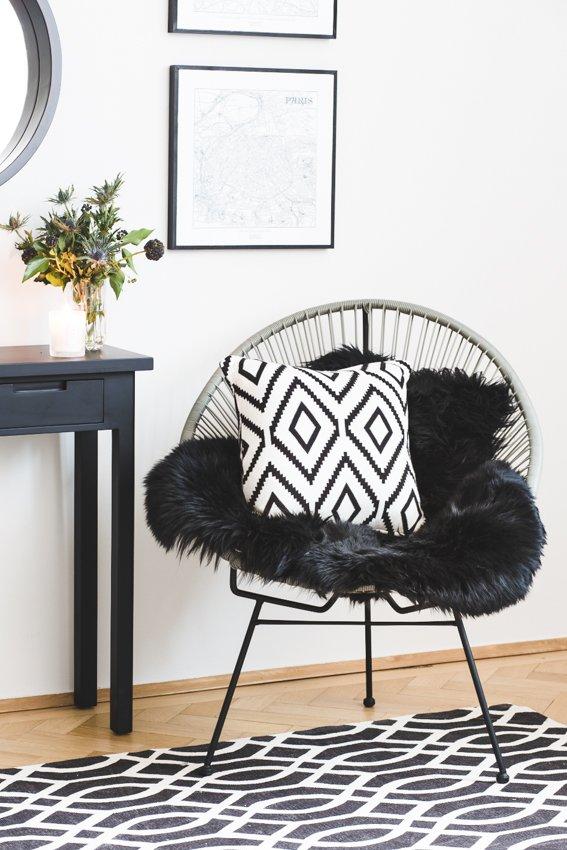 sedia con cuscino Black&White