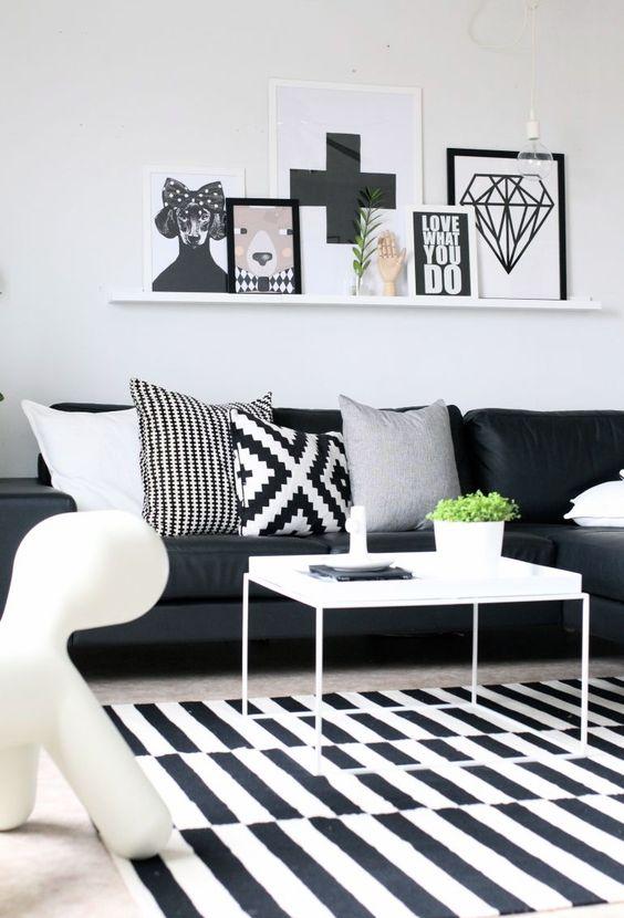 black and white carpet