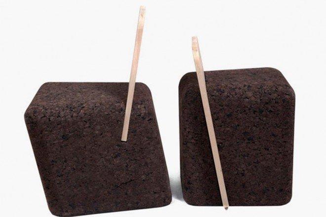 arredamento in sughero black cork1