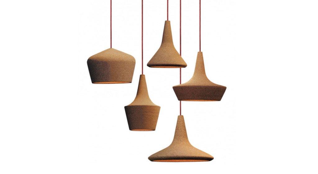 arredamento in sughero coupoles seletti lampada