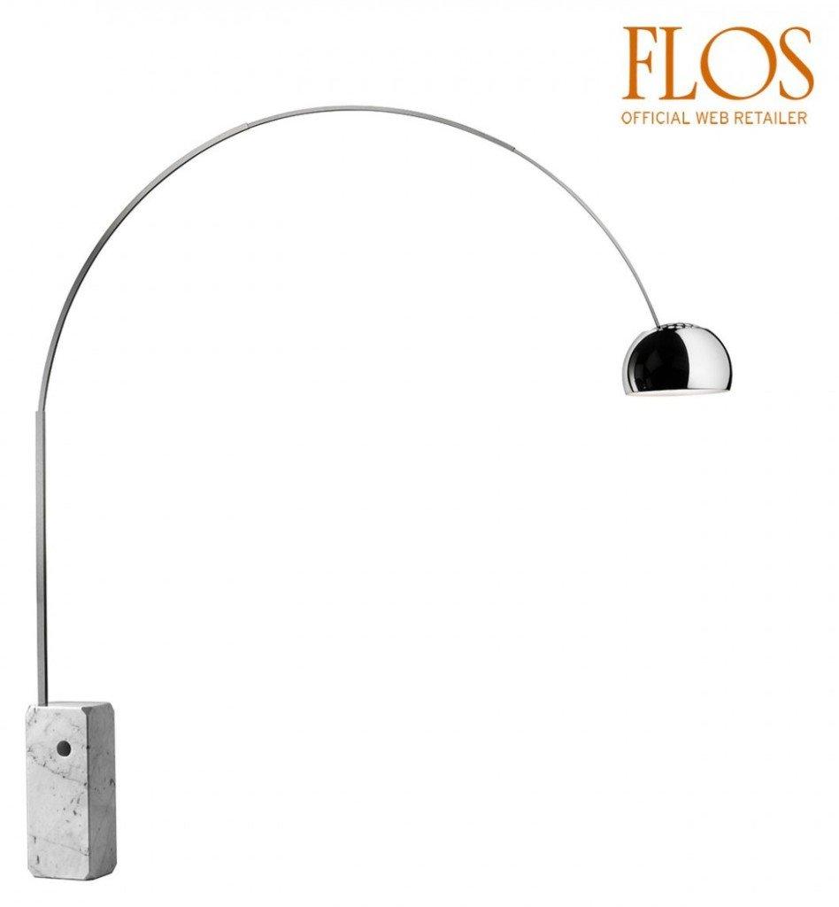 Lampade da terra marche di design prezzi e modelli for Lampada a terra flos