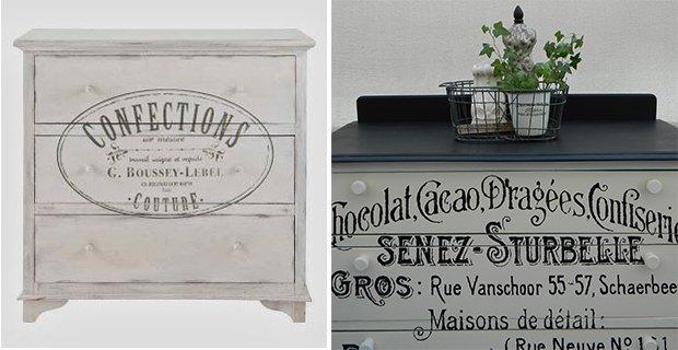 Stencil per pareti di casa i migliori esempi di decorazione - Stencil adesivi per mobili ...