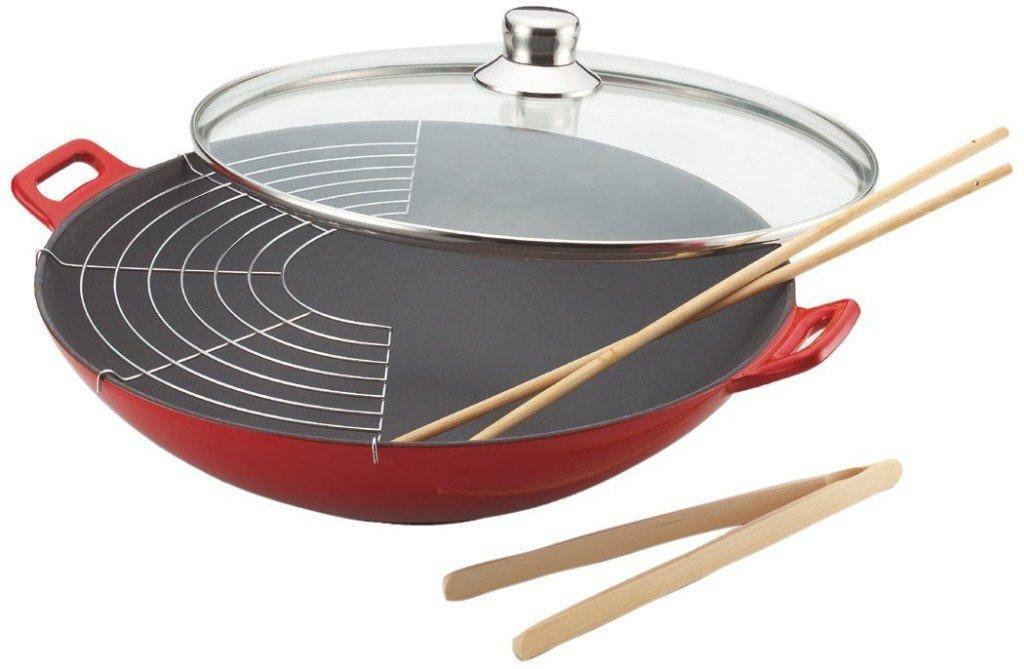 Pentola wok in ghisa