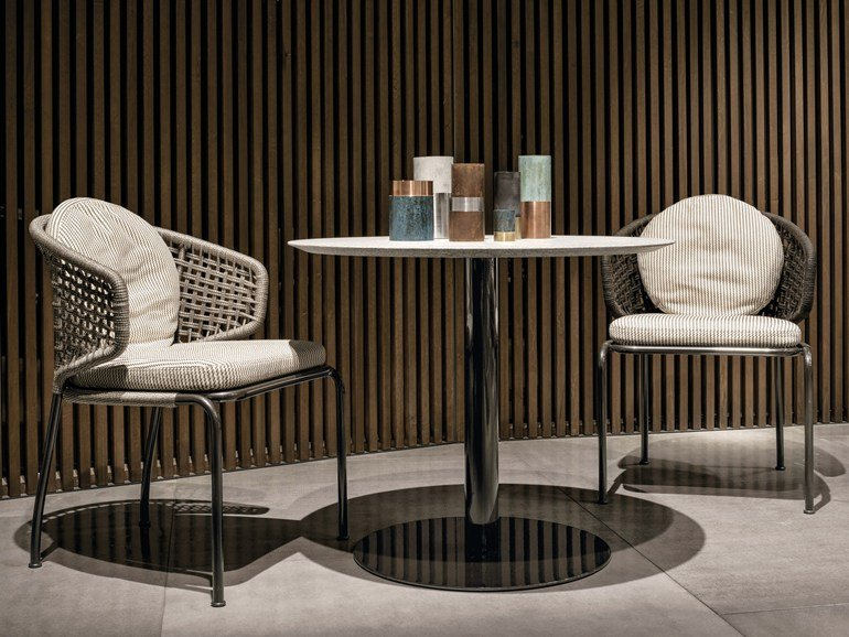 Aston Chord Outdoor Chair di Minotti