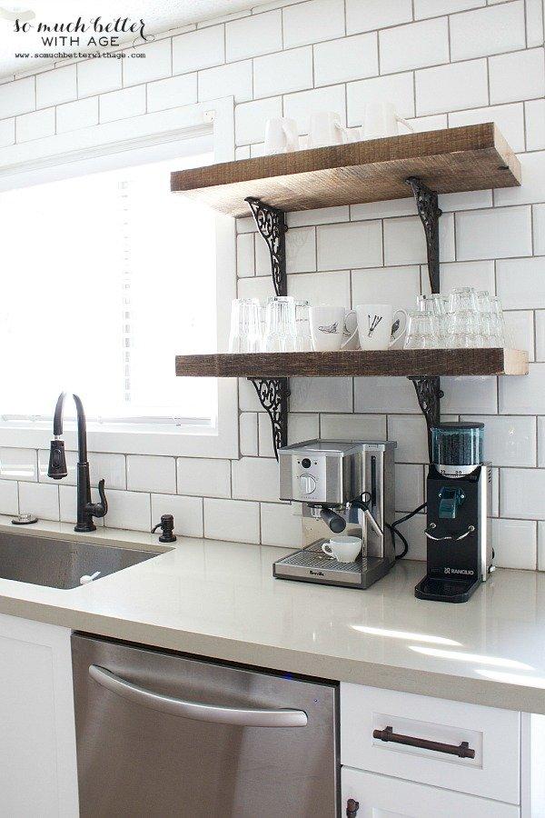 Mensole fai da te per la cucina - staffe