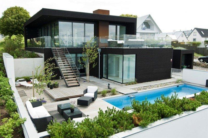 Popolare Case moderne: foto di progetti di design per interni ed esterni ES76