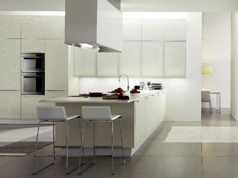 Cucine moderne con isola o ad angolo bianche ed economiche - Modelli cucine moderne immagini ...