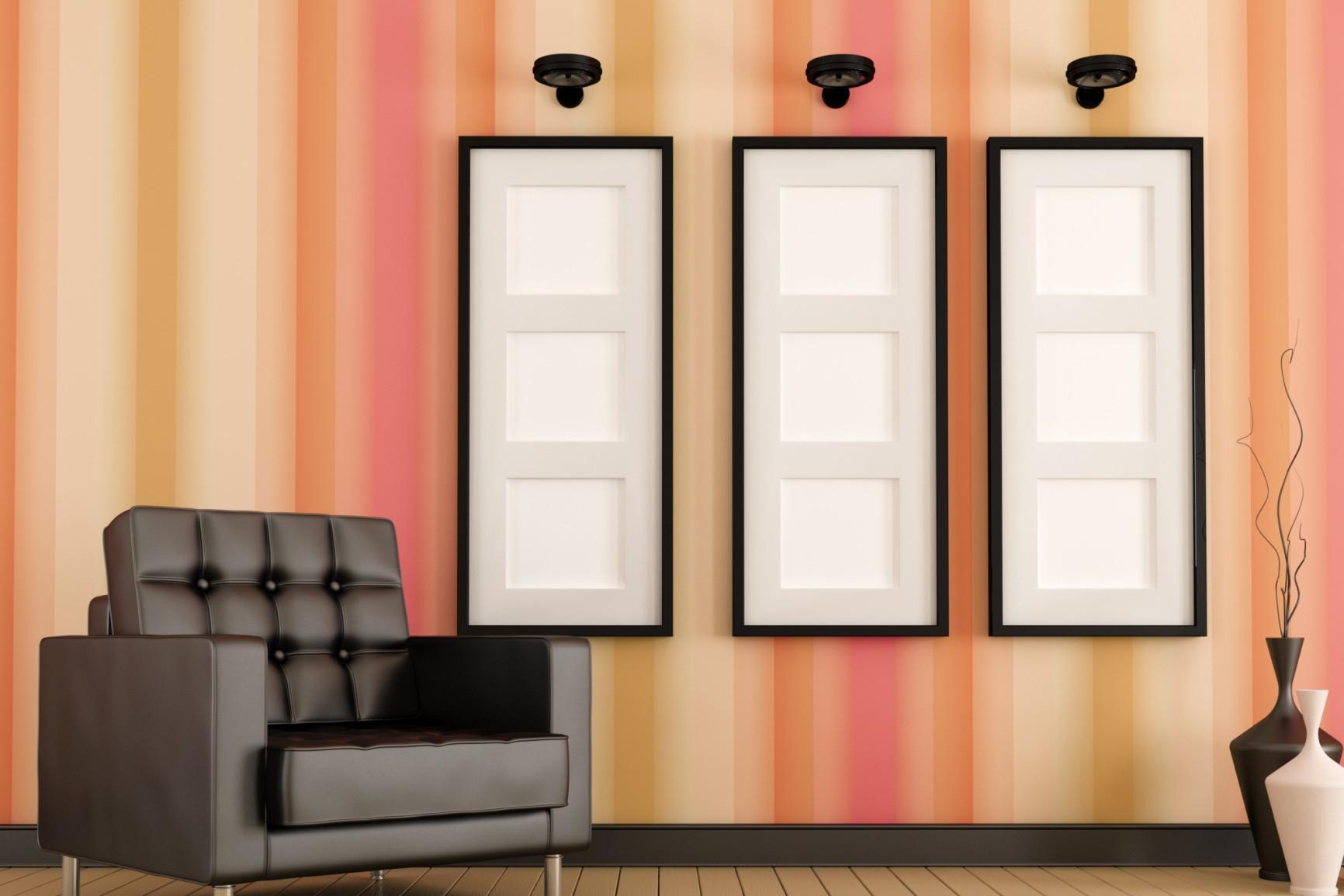 Pareti A Strisce Verticali : Come ingrandire gli spazi con il colore e una buona illuminazione