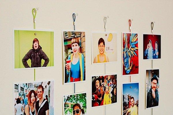 come riempire una parete vuota con le foto
