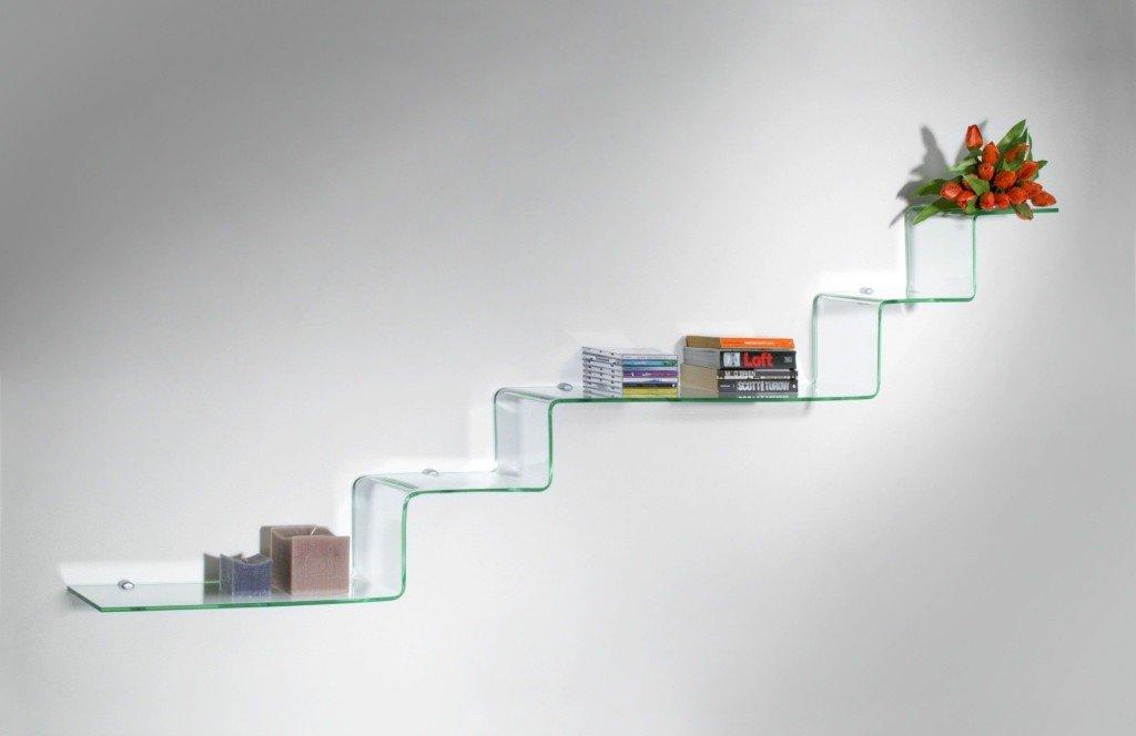 Come riempire una parete vuota 8 idee originali di ispirazione - Mensole da parete design ...