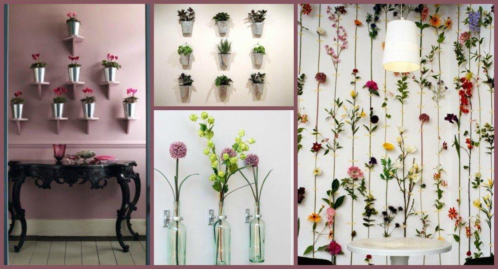come riempire una parete vuota con i fiori