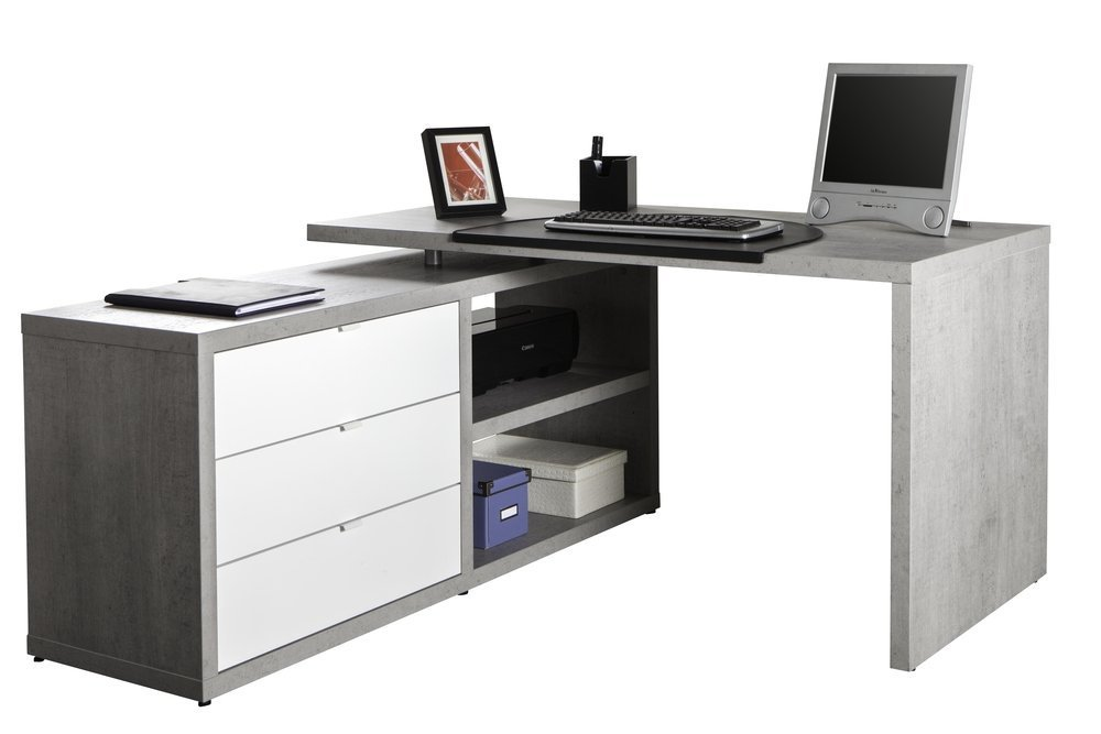 scrivania angolare per il vostro ufficio bianca ikea e