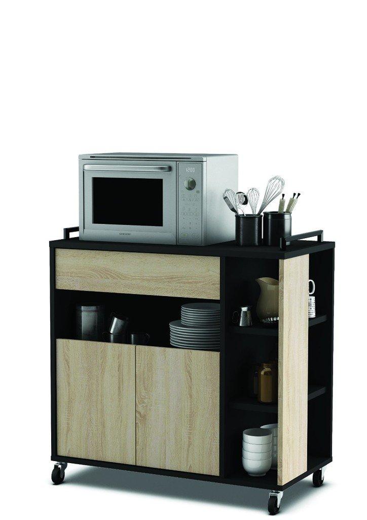 Carrello cucina i migliori modelli con prezzi e offerte online - Carrello cucina nero ...