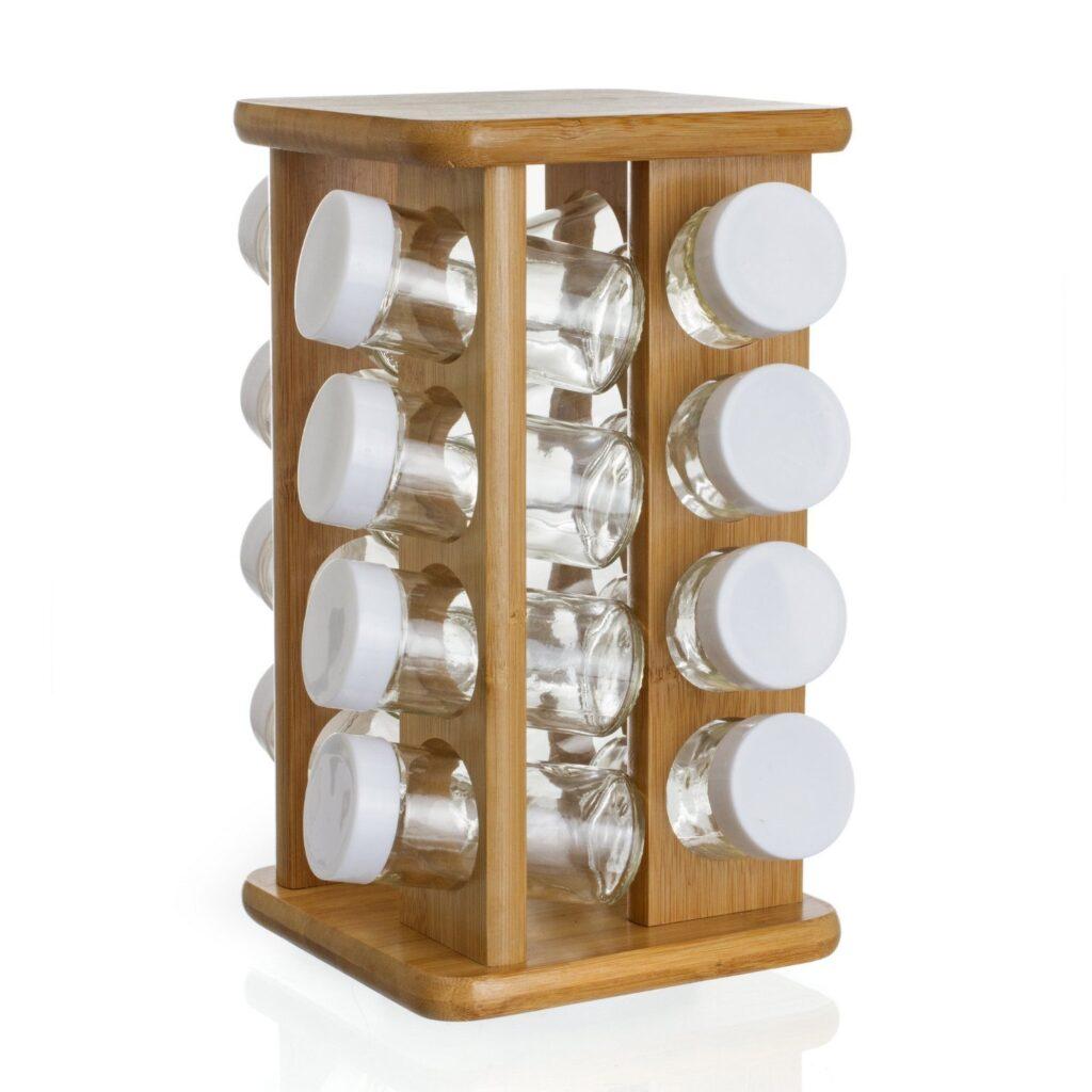 portaspezie design legno acciaio e vetro lo stile in cucina designandmore arredare casa. Black Bedroom Furniture Sets. Home Design Ideas