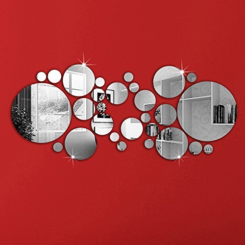 Specchio adesivo rotondo da parete o armadio ikea e altre marche designandmore arredare casa - Piccoli specchi rotondi ...
