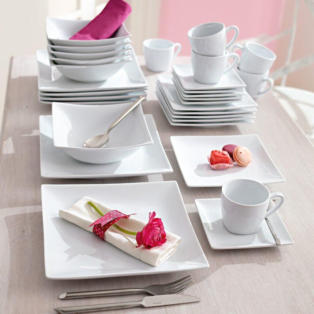 Piatti quadrati pura geometria in tavola tante proposte - Servizio piatti design ...