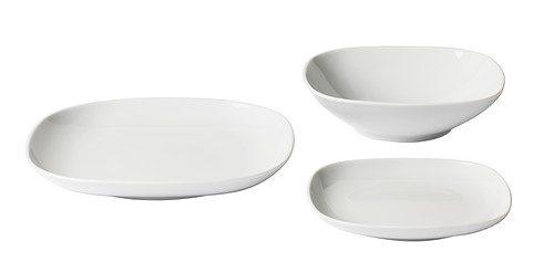 Piatti quadrati pura geometria in tavola tante proposte - Servizio di piatti ikea ...
