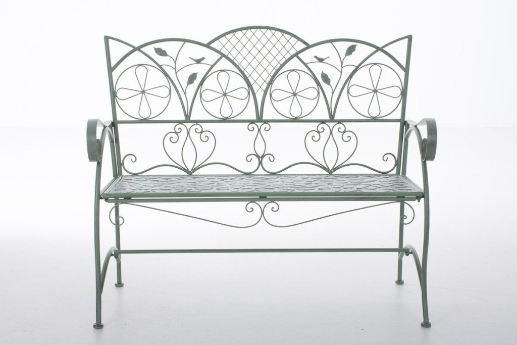 Panche in ferro gusto romantico per il giardino for Decorazioni in ferro per giardino