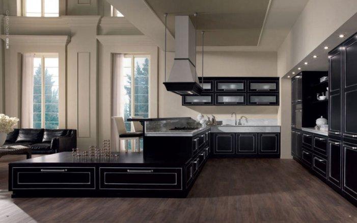Cucina nera: foto di esempi per una scelta raffinata e moderna
