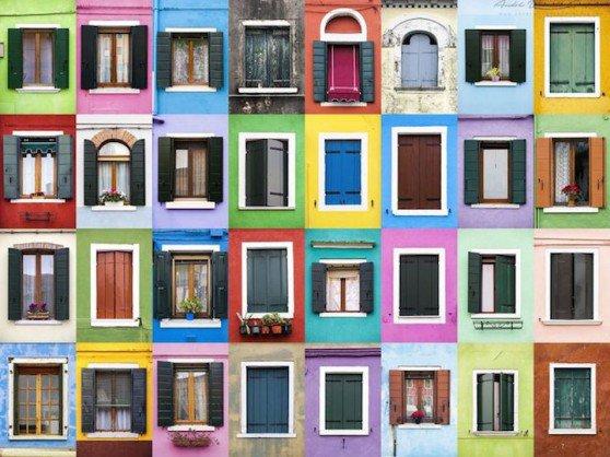 facciate case: policromatica