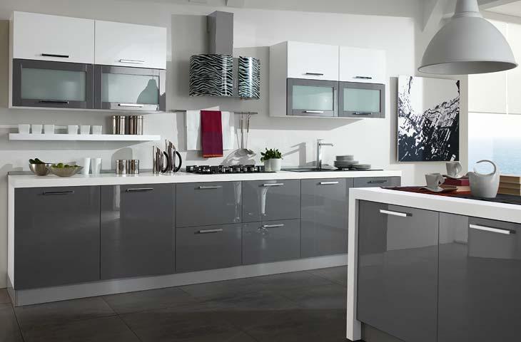 Cucina grigia e bianca una scelta di stile - Cucina bianca ikea ...