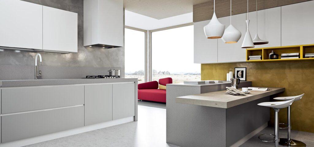 Cucina grigia e bianca una scelta di stile - Ardesia in cucina ...