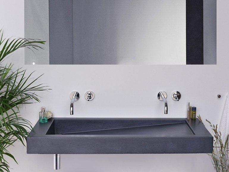 slant lavabi in cemento