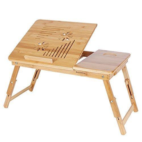 porta computer da letto in bambù