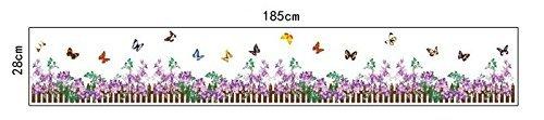 fiori battiscopa adesivo