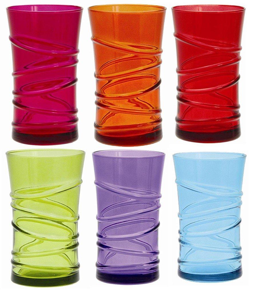 Bicchieri colorati stile e allegria in tavola modelli e - Disposizione bicchieri in tavola ...