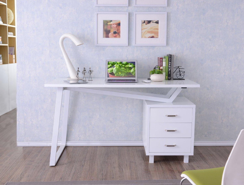 scrivania porta pc bianca