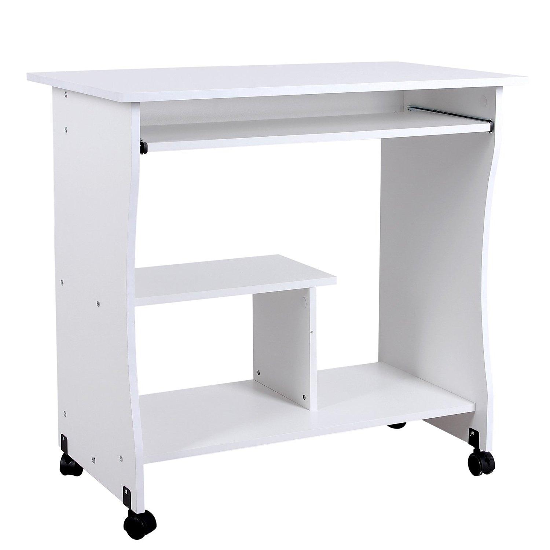 scrivania porta pc di colore bianco