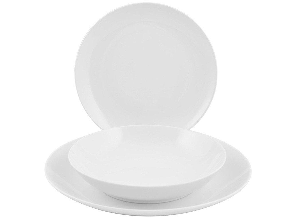 piatti in porcellana bianca