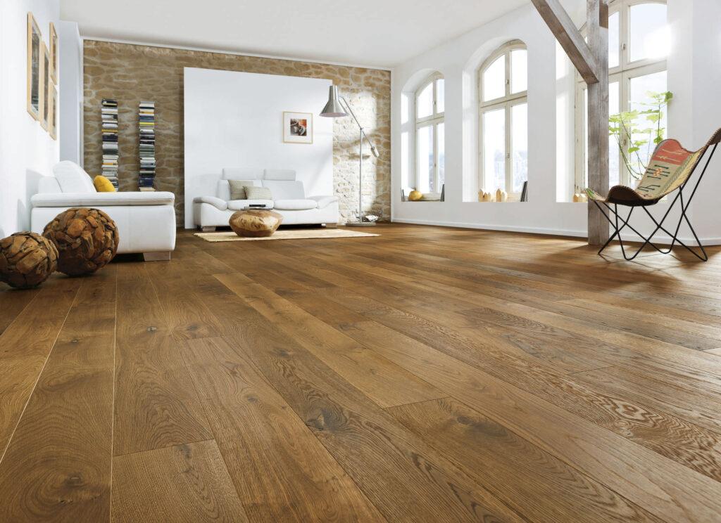 loft con pavimento in legno