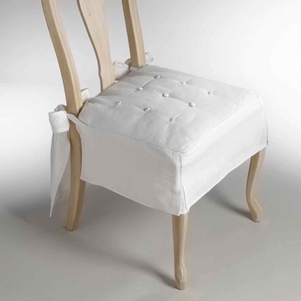 Coprisedie in tessuto bianco: più purezza in casa