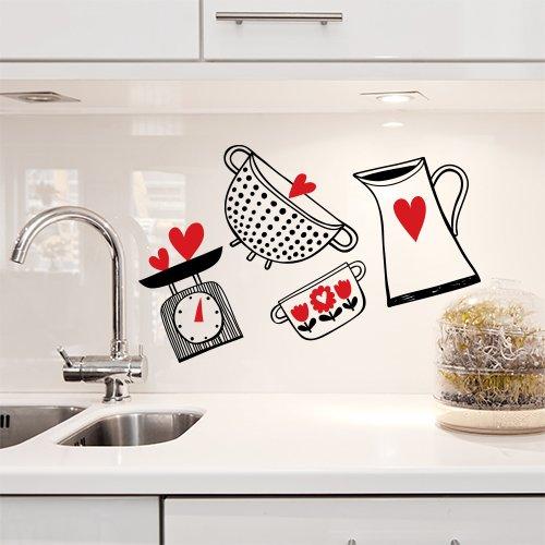 Paraschizzi cucina materiali consigliati designandmore for Scritte adesive cucina