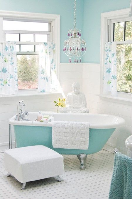 color tiffany in bagno
