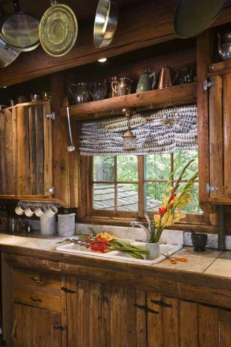 Arredamento rustico in cucina: