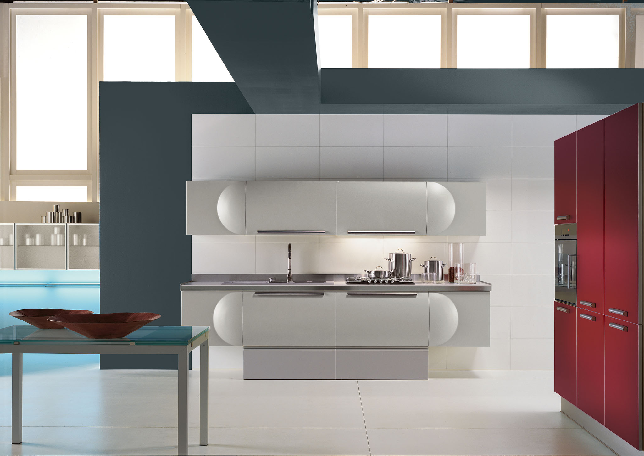 Disegno luci bagno - Cucine in muratura bianche ...